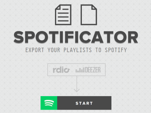 Spotificator Homepage