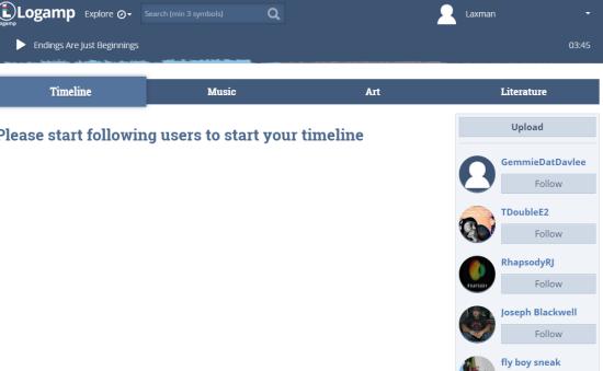 Timeline tab