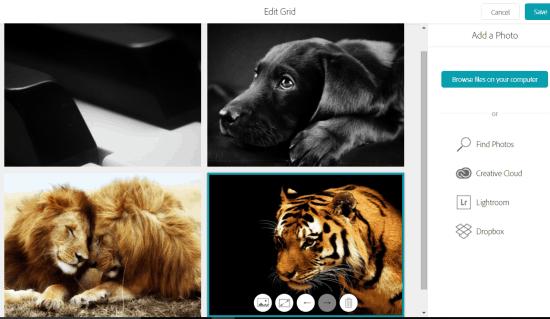 add a photo grid