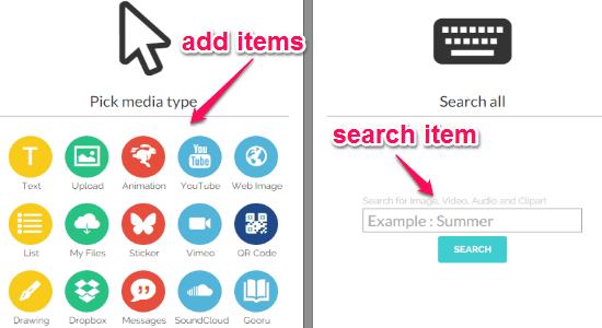 add items