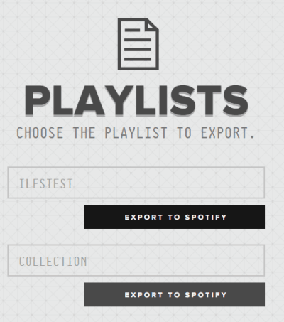 choose the playlist to export