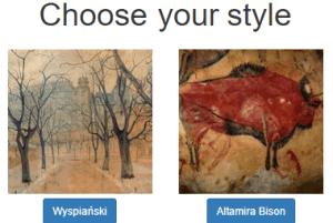 deepart.io- website to convert an image to art