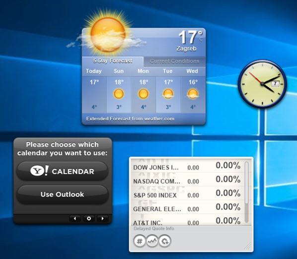 desktop widget software windows 10 1