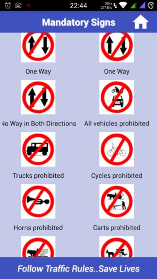 eu road sign learning apps android 4
