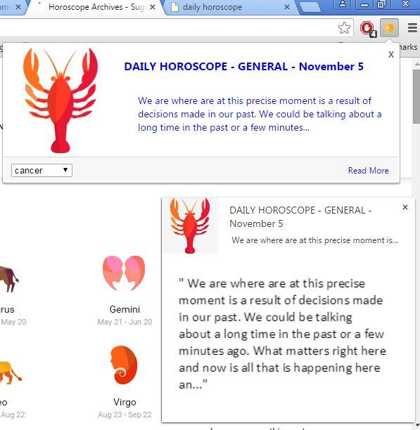 horoscope extensions chrome 4