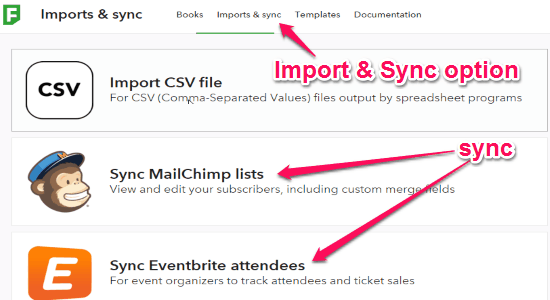 import and sync