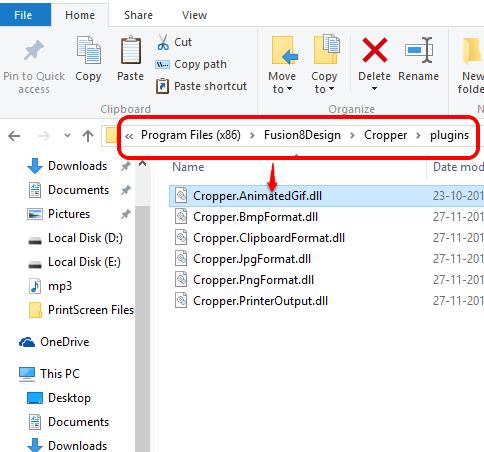 paste Cropper.AnimatedGif.dll file in plugins folder