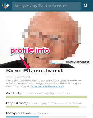 profile info