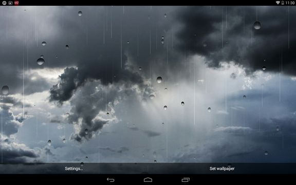 rain live wallpaper apps android 4
