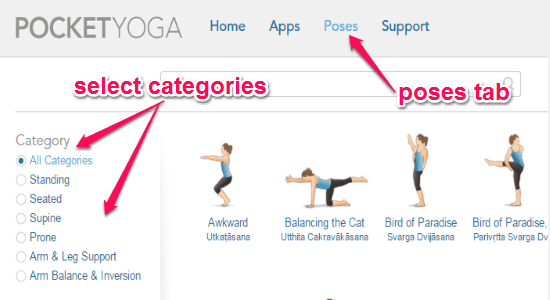 select categories