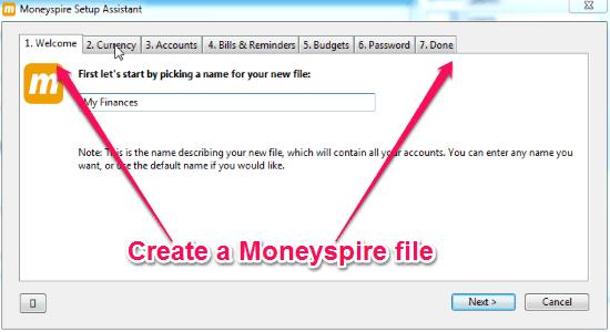 set a file