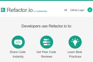 share your code online for code refactoring