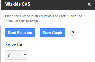 solve equations and plot graphs in Google Docs document