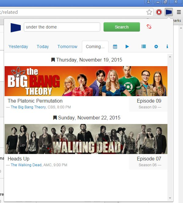 tv guide extensions google chrome 4