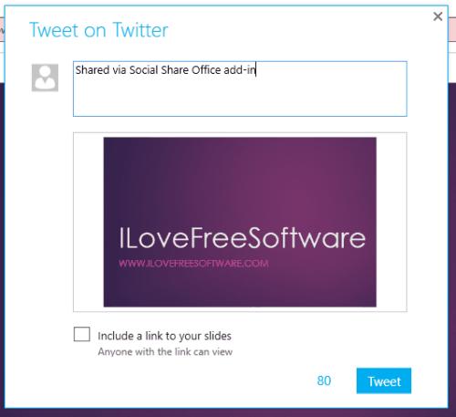 tweet slide area to your account