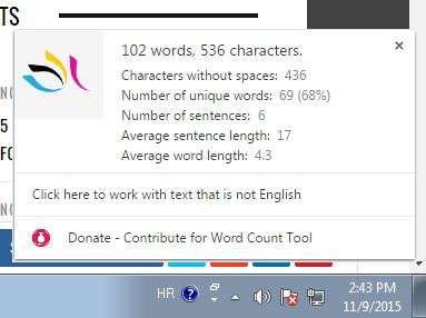word counter extensions chrome 2