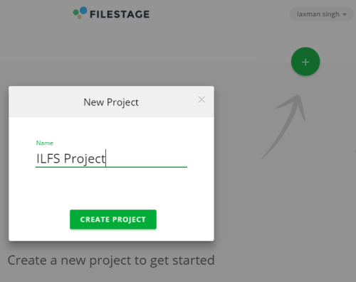 Create your first project