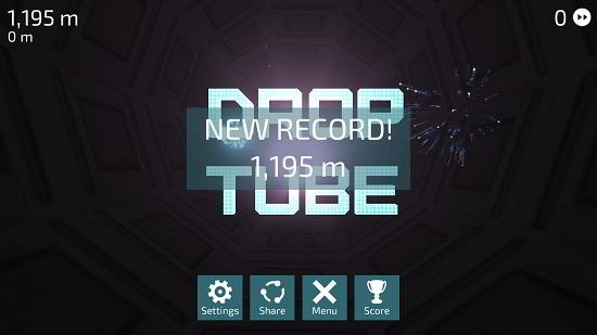Drop Tube game over