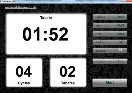 Free Tabata Timer- interface