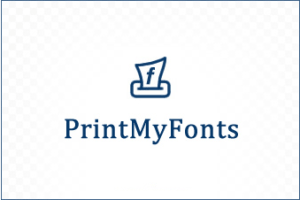 PrintMyFonts software to preview fonts and export
