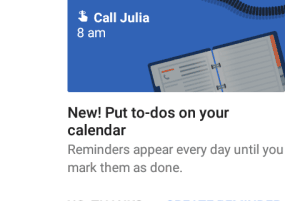 Reminder feature for Google Calendar