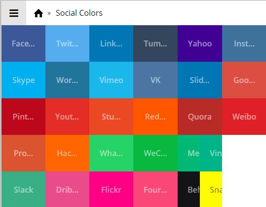 Social Colors Homepage