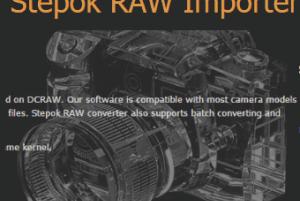 Stepok RAW Importer- bulk convert RAW images