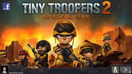 Tiny Troopers 2 Special Ops main screen