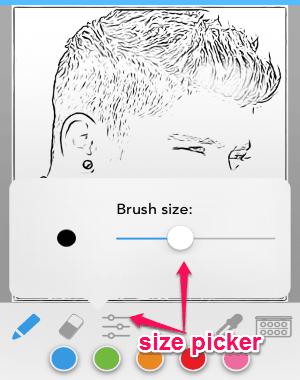 change brush size