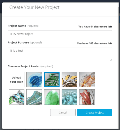 create your new project