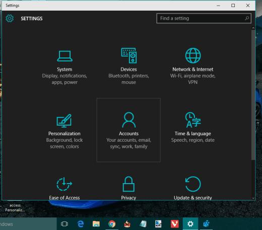 dark theme enabled in Windows 10