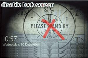 disable lock screen in Windows 10