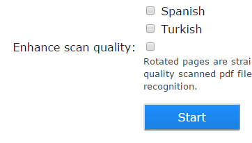 enable the enhance scan quality option and start the conversion