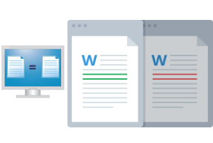 DiffNow- compare two word documents online