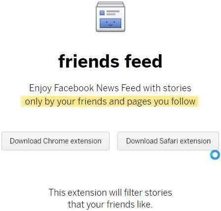 friends feed homepage