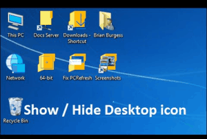 hide desktop icons in Windows 10 automatically