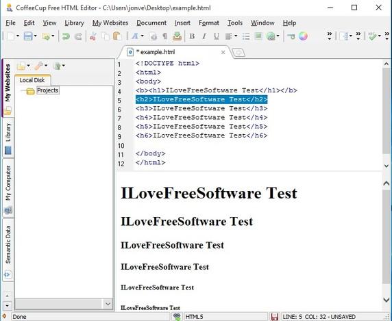 html editor software windows 10 3