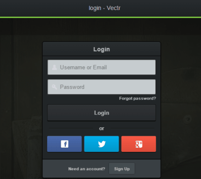 login or create your free Vectr account