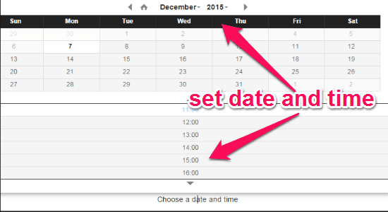 set date and time