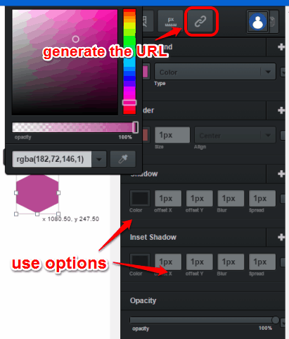 use options for a tool