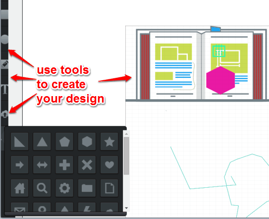 use tools to edit your design