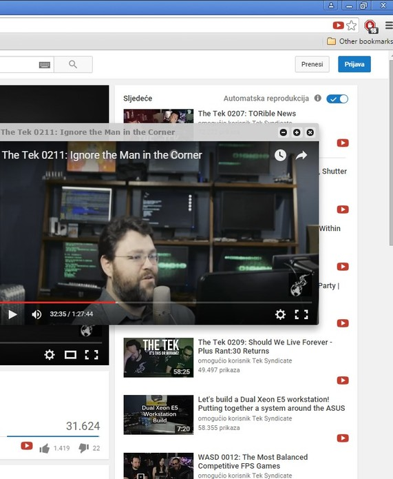youtube video pop up extensions chrome 4