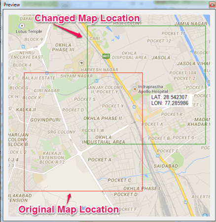 Changed Map Location