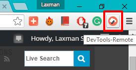 DevTools Remote Extension icon