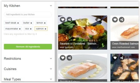 find recipes by ingredients