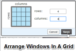 WindowGrid- arrange windows in a grid