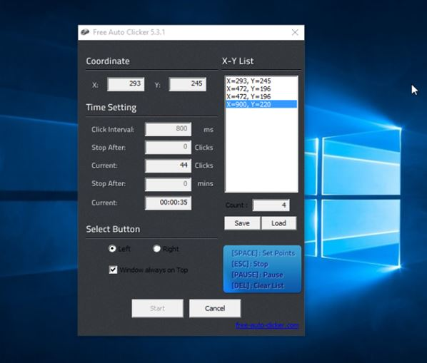 automatic mouse clicker software windows 10 3