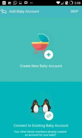 baby scrapbook create baby account