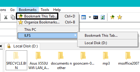 bookmark a tab