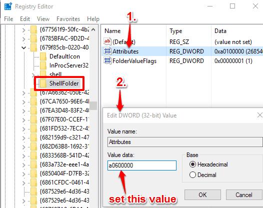 change Attributes Value data